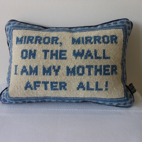 Two S Company Other Mirror Mirror Quote Luxury Pillow Wool Velvet Poshmark